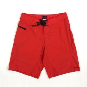 Patagonia Mens Board Shorts Red Orange 3550